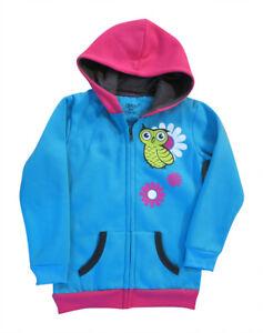 Girls Fleece Hoddies / Jacket - Blue Owl