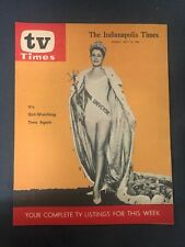 Vtg TV Times magazine TV guide Indianapolis 1963 Miss Universe Pageant