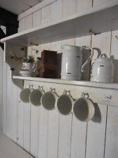 Küchenregal Wandregal Badregal Shabby Chic 80 cm Handtuchhalter weiß Vintage