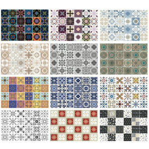 24 Patterns Peel and Stick Tiles Transfer Sticker Kitchen Bathroom Wall Decals