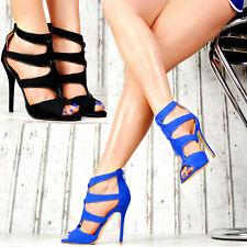 Neu Damen Sandaletten Riemchen Sandalen Damenschuhe Party Club SeXy