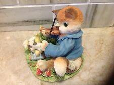 """Calico Kittens Figurine  """"HEY DIDDLE DIDDLE THE CAT AND THE FIDDLE"""" NIB  LTD. Ed"""