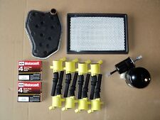 TUNE UP KIT 8+ HEAVY DUTY COIL 508Y 8+SPARK PLUGS SP493 AIR,OIL,GAS,TRANS FILTER