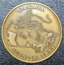 1871-1971 BRITISH COLUMBIA - Centenary of Confederation with Canada Token/Medal