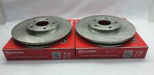 Genuine Brembo Set Front Disc Brake Rotors for 05-17 Subaru WRX STi #09 7812 21