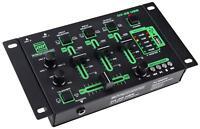 MIXER DJ DISCO STEREO AUDIO CONSOLLE 3/4 CANALI PRO KARAOKE MP3-PLAYER USB