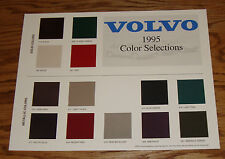 Original 1995 Volvo Color Selections Sales Sheet 95 850 940 960