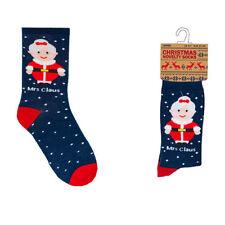 Tom Franks Women's Christmas Novelty Cotton Rich Mrs Claus Socks, Multi
