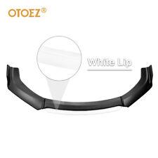4pcs Universal Car Front Bumper Lip Spoiler Splitter Wing Body Kit Blackwhite Fits Toyota Yaris