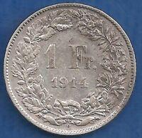 SWITZERLAND-HELVETIA  1 FR 1914!!