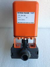 "George Fischer 1/2"" PVC True Union Socket Weld Electrically Actuated Ball Valve"