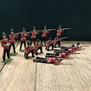 Britains: Display Set 2086 - The Queens Royal Regiment. Post War c1955
