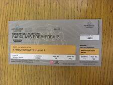 16/12/2006 billet: Newcastle United V WATFORD [Bamburgh suite saison 2006/2007 T