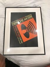 Dm Depeche Mode Signed 1988 Black Celebration Tour Poster #3/300 Martins Studio