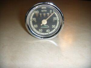 Vintage Skiroule Used Speedometer Head