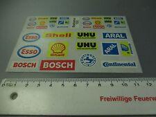Kibri/Preiser : Aufkleberbogen  mit diversen Logos, Shell, Esso,etc (Nr.6GK110)