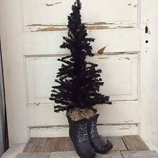 AGD Halloween Decor - Witch Boots Planter Black Tree 2ft tall