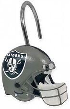 Oakland Raiders NFL Bath Shower Curtain Rings Bathroom Set of 12 Licensed