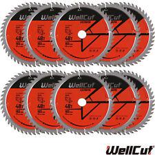 WellCut TCT Saw Blade 165mm x 48T x 20mm Bore For Dewalt DWS520,GKT55 Pack of 10