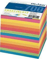 Zettelklotz Notizklotz Nachfüllung bunt, 700 Blatt Box Notizzettel 9 x 9 x 9 cm