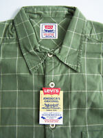 Levi's Checked Shirts Men's Large L Extra Large XL Green Grey Unworn Vtg Tags