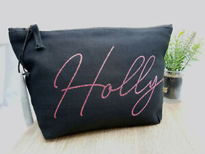 Personalised Make Up/Wash Bag Perfect Mothers Day Birthday Gift Present  Anyname