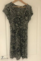 FAT FACE NAVY BLUE PAISLEY BALTIK PRINT DRESS SIZE 14 EXCELLENT