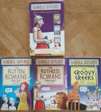 Box set 3 Horrible Histories: rotten and ruthless Romans and groovy greeks