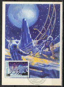 Soviet Russia 1962/77 Space Maxi Card Communication with Earth Izhevskoye