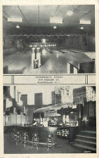 Ostrowski's Bowling Alley & Tavern ~HACKENSACK NJ~ Scarce Old Postcard, 1942