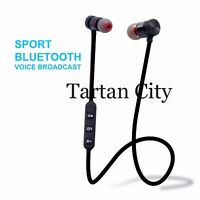 Wireless Bluetooth 4.1 Sports Headset Headphone Earphones Mic Compatible IPhone