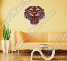 "Tiger Roar Face Cat Wild Life Animal Wall Sticker Interior Decor 22""X22"""
