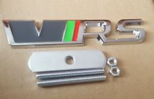 VRS Badge Front Grille Grill Kit 3D Chrome Logo Emblem For SKODA Octavia Fabia