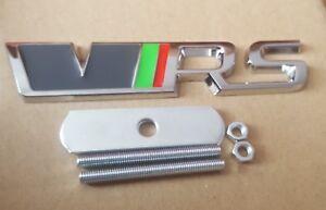 VRS Badge Front Grille Grill Kit 3D Chrome Logo Emblem For SKODA Octavia Fabia