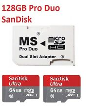 128GB (64GB x 2) MEMORY STICK MSPD PRO DUO CARD FOR PSP 1000 2000 & 3000 SERIES