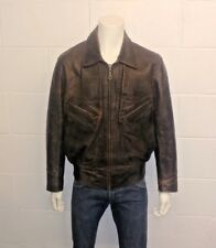 CHEVIGNON France 1970s Vintage 100% Cowhide Leather Jacket. Men's Size X Large