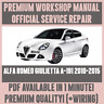 *ITALIAN WORKSHOP MANUAL SERVICE & REPAIR ALFA ROMEO GIULIETTA A-191 2010-2015