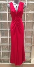 NEW Wallis Red Ruched Back Slinky Dress, 10 Uk, Gorgeous Long Red Dress!