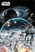 "STAR WARS - MOVIE POSTER / PRINT (BATTLE COLLAGE) (SIZE: 24"" X 36"")"