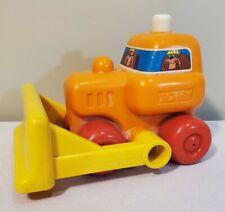 Vintage Tomy BULLDOG BULLDOZER Construction Kid Toy + Bell & Dumping Action RARE