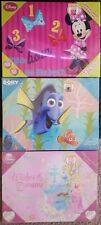 """Disney LED Canvas Light up Wall Art  Minnie, Dory & Princess lot of 3 5""""X 15""""In"""