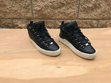 Balenciaga Arena High Top Sneakers , Black Leather , Size US 8 / EUR 41