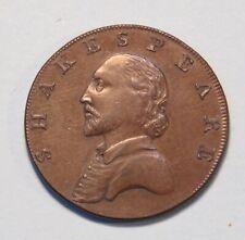 1790 Shakespeare 1/2 Penny Great Britain Warwickshire Stratford Token Halfpenny