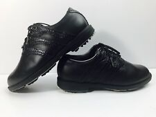 Adidas Z traxion Black Leather Croc Athletic Golf Spikes Men's Size 7 Shoes EUC