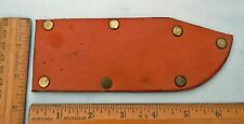 """Simple Handmade Leather Sheath for 5-1/2"""" Knife no belt attachment"""
