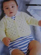 baby knitting pattern newborn -1 cardigan3 ply