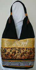 Thai Hobo Bag with Crystals & Elephants Style P many Colours made in Thailand!