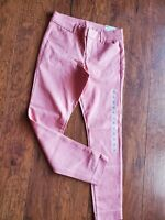 NWT Old Navy Womens Pixie Mauve Dark Pink Stretch Skinny Ankle Pants Size 2