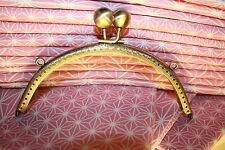 15.5 cm bronze  Coin Bag Evening Purse Metal Frame Kiss Clasp lock NEW