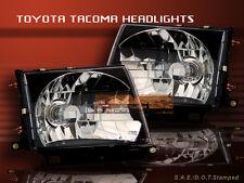 97-00 TOYOTA TACOMA HEADLIGHTS CRYSTAL BLACK 99 98 LAMPS
